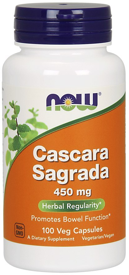 NOW FOODS Cascara Sagrada 450mg, 100vcaps.