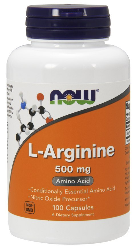 NOW FOODS L-Arginine 500mg 100caps.