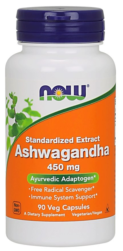 NOW FOODS Ashwagandha Extract 450mg, 90vcaps.