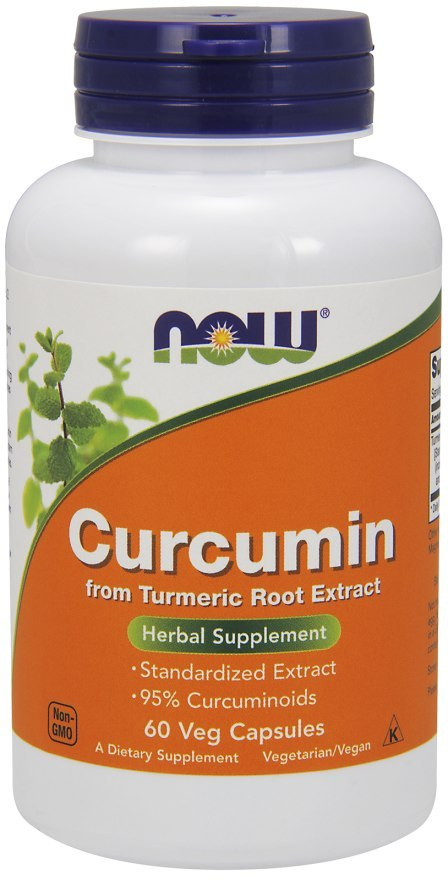 NOW FOODS Curcumin 665mg, 60vcaps. - 95% Kurkuminoidów