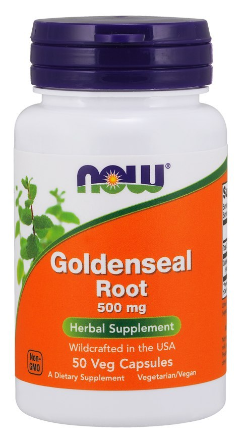 NOW FOODS Goldenseal root 500mg, 50vcaps. - Gorzknik Kanadyjski