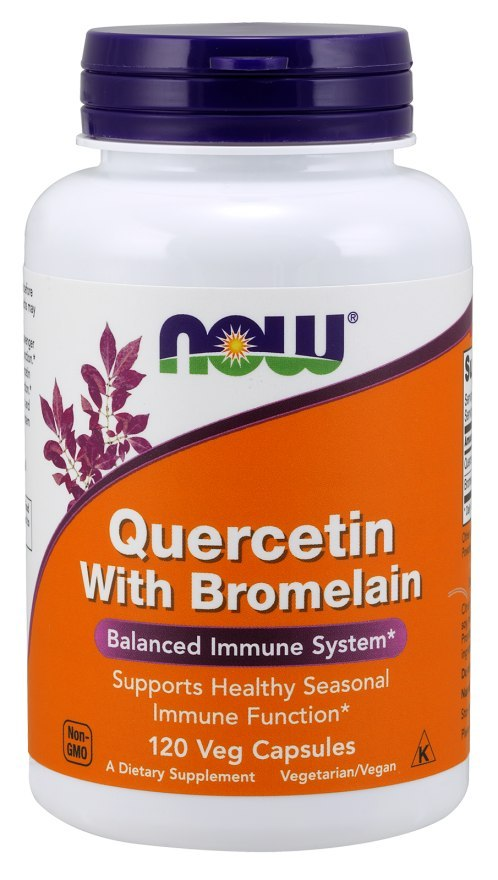 NOW FOODS Quercetin with Bromelain, 120vcaps. - Kwercetyna z Bromeliną