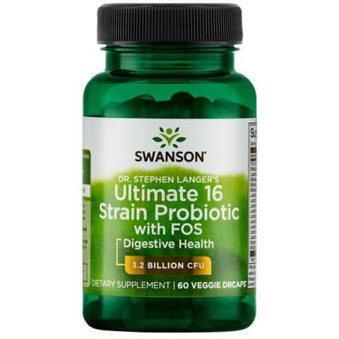 SWANSON Ultimate 16 Strain Probiotic with FOS 60dr vcaps.